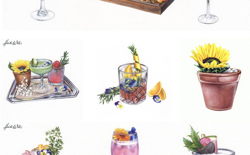 heidi willis_artist_illustrator_watercolour_cocktails