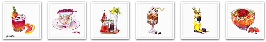 Heidi Willis_cocktail Illustration_illustrator_watercolour