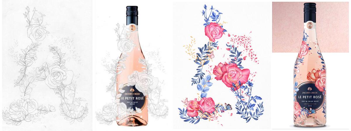 heidi willis_artist_illustrator_jacobs Creek_wine lable