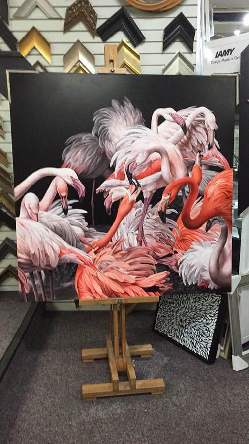 heidi willis_flamingo painting_birds in art_bird painting