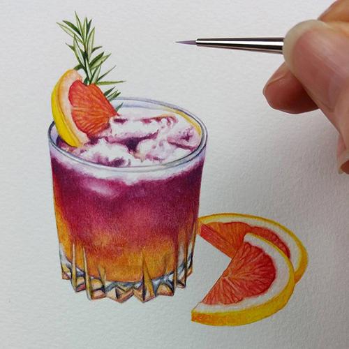heidi willis_watercolour illustration_drink