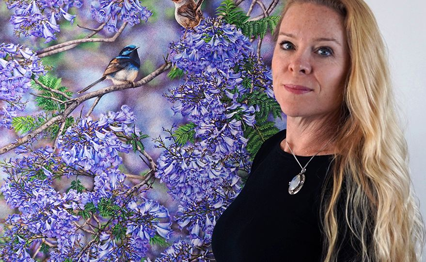 Heidi Willis_Jacaranda painting_bird artist