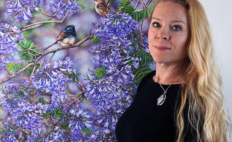 Heidi Willis_Jacaranda painting_bird artist