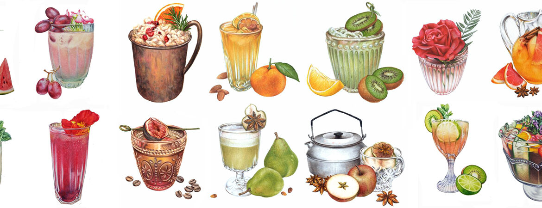 heidi-willis_illustrator_artist_watercolour_drinks_cocktail